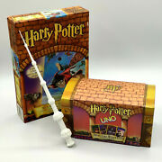 Bundle - Harry Potter Uno Special Edition Card Gameandnbspvery Rare New Puzzle + Wand