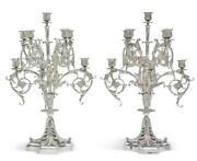 And Co Sterling Silver 9-light Candelabra Set Paris Exposition 1900
