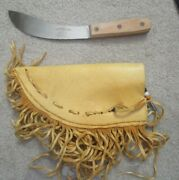 Vintage J Russell And Co Green River Works Curved Skinning Knife