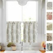 Tier Curtains Paisley Scroll Printed Linen Tiers Medallion Design Jacobean Room