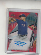 2020 Topps Finest Brock Burke Red Wave Autograph Rc Card 02/05 Rangers
