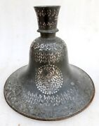 Antique Old Rare Hand Carved Islamic Persian Fine Silver Work Mughal Hookah Pot