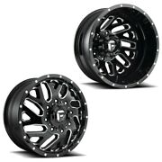 22x8.25 D581 Fuel Triton 05-up Ford 19-up Dodge Dually Wheels Set 8x200 Set Of 6