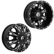 17x6.5 D513 Fuel Throttle 05-up Ford 19-up Dodge Dually Wheels Set 8x200
