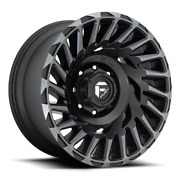 20x10 D683 Fuel Cyclone Matte Black And Machined Wheels 8x6.5 -18mm Set Of 4