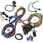 Wiring Harness 21 Circuit 17 Fuses Kit Universal Connector Signals Flasher