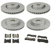 Front And Rear Disc Brake Rotors And Pad Kit For Mercedes W204 C63 Amg 2008-2015