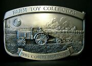 Ih Mccormick Deering 15-30 Tractor Pewter Belt Buckle Le 1985 Farm Toy Collector
