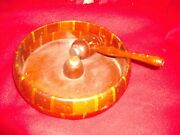 Product Of The California Redwood Forests Redwood Nut Cracker Bowl With Hammer