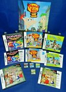 Nintendo Dsphineas And Ferb,hotel For Dogs,bejeweled Twist,jr Classic Bks, W/mans