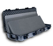 Slim Double Rifle Case With Wheels And Rasp Clasps   2 Shotguns Or Scoped Rifles