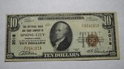 10 1929 Spring City Pennsylvania Pa National Currency Bank Note Bill 2018 Vf+