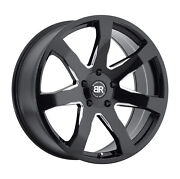 20x8.5 Black Rhino Mozambique Gloss Black And Milled Wheels 5x120 35mm Set Of 4