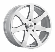 20x8.5 Black Rhino Mozambique Silver And Machined Wheels 5x120 35mm Set Of 4
