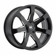 24x10 Black Rhino Mozambique Gloss Black And Milled Wheels 5x5.5 25mm Set Of 4
