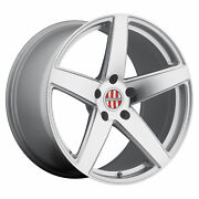 19x10.5 Victor Equipment Baden Silver And Machined Wheels 5x130 55mm Set Of 4