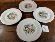 Set Of 4 Dinner Plates Victorian Rose Tabletops Unlimited Dinnerware China 10.5