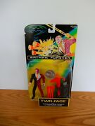 1995 Batman Forever Two-face W/ Turbo-charge Cannon And Good/evil Coin Nib