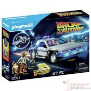 Back To The Future Delorean Time Machine With Marty, Doc Set By Playmobil