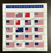 3403 Stars And Stripes Lot Of 10 Sheets Mnh 33 C Sheet Of 20 Fv 66 2000