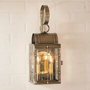 Simple Elegant Farmhouse 2 Lights Outdoor Wall Sconce In Weathered Brass