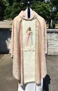 Divine Mercy Chasuble Jesus Priest Stole Gold Embriodery Ornate Priest Vestment