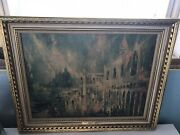 Above The Piazza . Jack Laycox Original Oil Painting