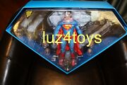 Sideshow Exclusive Hot Toys Superman Reeve 12 Figure W/ Kryptonite Necklace New
