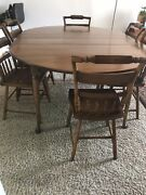 Vintage Hitchcock Furniture - Dining Set - Drop Leaf Table And 6 Chairs