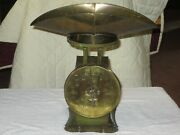 Brass Faced Pelouze The Standard Scale W/scoop, From Andrew Co., Mo Home