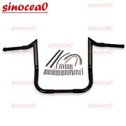 1-1/4and039and039 Black 12and039and039 Handlebar And Extension Wire Kits For Harley Touring Flhx Flht