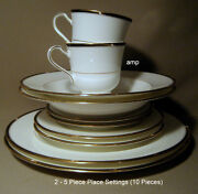 Mikasa Academy Cah05 Lot Of 2 5 Piece Place Settings 10 Pieces Perfect