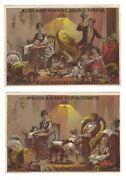 Willcox And Gibbs New Automatic Sewing Machine Trade Cards Before And After Scenes