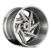22x12 American Truxx At1906 Spiral Brushed Texture Wheels 5x150 -44mm Set Of 4