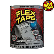 Flex Tape Gray 4 X 5and039 - Super Strong Rubberized Waterproof - Buy Direct