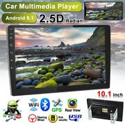 10.1 Car Radio 2 Din Android 9.1 Gps Stereo Navi Mp5 Player Wifi Quad Core