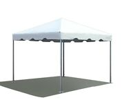 Commercial Frame Party Tent 10x10 Ft White Vinyl West Coast Sectional Canopy
