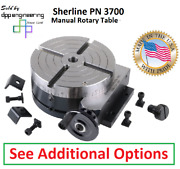 Sherline Pn 3700 Manual Rotary Table With Options