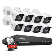 Sannce 4ch 8ch 1080p Lite Dvr 2mp Cctv Exir Security Camera System Outdoor H264+