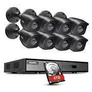 Sannce 4ch 8ch Dvr 1080p Security Camera System H.264+ Onvif Outdoor Exir Night