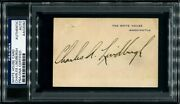 Charles Lindbergh Signed Autographed White House Card Rare Psa/dna Certified