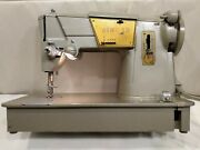Vintage Singer 328k Heavy Duty Sewing Machine Style-o-matic W/ Foot Pedal