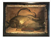 Antique Still Life Oil Painting Of Dead Game - Memento Mori - Macabre - Hunting