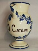 Pot Pharmacy/apothecary Pitcher O. Canum H 22 2in Signed Rochette - Pimelia