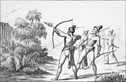 History Of Usa - Indian Of Florida Arrows Incendiary - Engraving From 19th