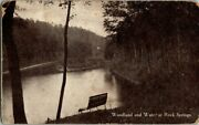 1909. Woodland And Water At Rock Springs. West Virginia. Postcard. Dc10