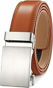 Menand039s Belt Ratchet Dress Belt With Automatic Buckle Brown/black-trim To Fit-35mm