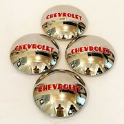 1947-53 Chevrolet Hub Caps To Fit Aftermarket And039gennieand039 Steel Wheel- Pol S/s - X4