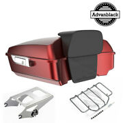 Advanblack Hard Candy Hot Rod Red Flake Chopped Tour Pack For 97+ Harley