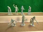 Vintage Marx Cape Kennedy And Cape Canaveral Figures 54mm